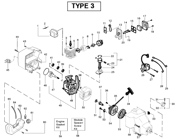 SST25HO engine Type 3 Parts