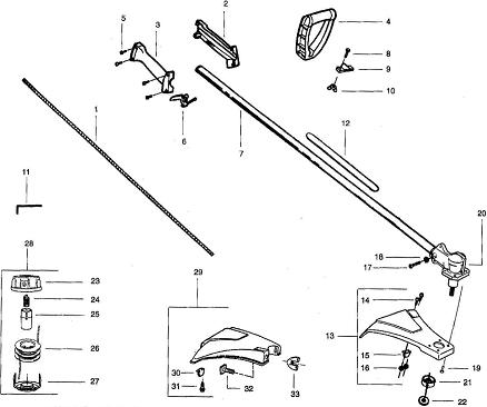 dismantled featherlite trimmer parts list manual