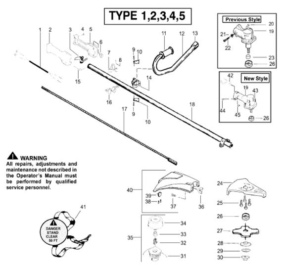 BC2400 Parts T1-5