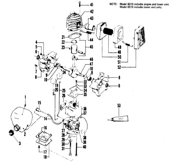 Weedeater 6510 Engine